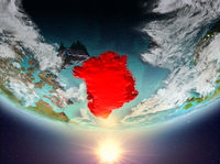 Greenland with sun