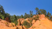 Ochre canyon near Roussillon in Provence France