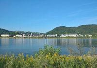 Blick auf den Kurort Bad Breisig am Rhein,Rheinland-Pfalz,Deutschland