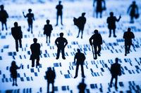 DNA Profil und Menschen