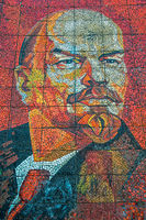 Mosaic portrait of Vladimir Lenin