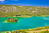 Island of Visovac monastery in Krka national park