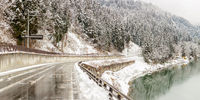 winter landscape Japan