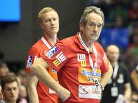 Cheftrainer Dr. Rolf Brack (Frisch Auf Göppingen) beim DKB-Handball Punktspiel SC Magdeburg - Frisch Auf Göppingen am 22.02.2018 in Magdeburg