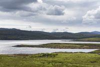 Blick über Loch Ceann Hulavig, Isle of Lewis