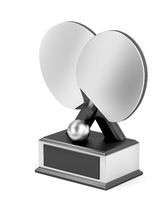 Silver table tennis trophy