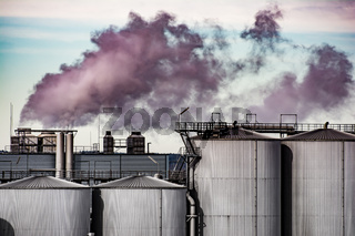 Air Pollution from the smokestack of a factory
