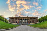 Berlin sunset city skyline at Museum Island, Berlin, Germany