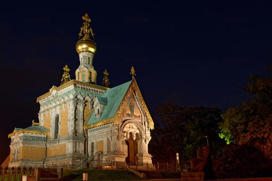 Russische Kapelle abends