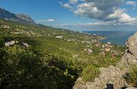 Coast of the Black Sea of Crimean Peninsula