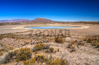 Big crater in Altiplano