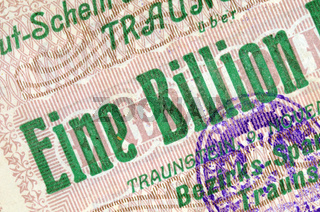 Eine Billion Deutsche Mark / One billion German Marks