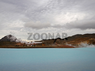 Bjarnarflag-Kraftwerk; Geothermalkraftwerk im Norden Islands im Mývatngebiet