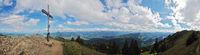 Panoramaaussicht vom Bärenköpfle - Nagelfluhkette