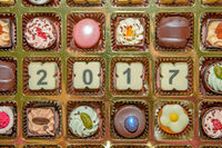 Chocolate sweets and candies new year 2017
