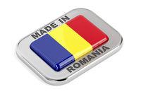 Made in Romania shiny badge
