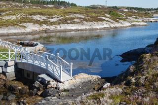 Beautiful view on bridge in norwegian fjords
