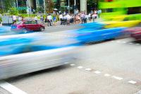 Rush hour in Singapore