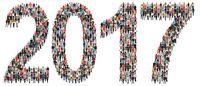 Jahr 2017 Neujahr Neu Neues Leute Menschen People Gruppe Menschengruppe