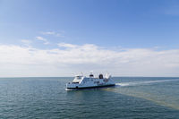 Ferry between Germany and Denmark on Baltic