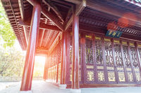 traditional chinese pavilion closeup
