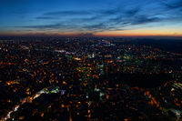 Aerial night panoramic