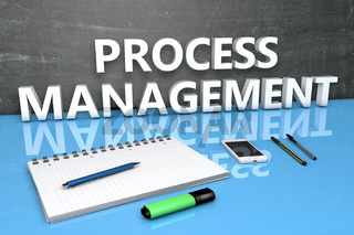 Process Management text concept