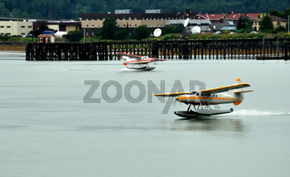 Floatplanes near Ketchikan