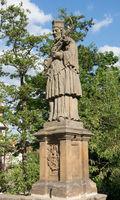 Statue des heiligen Nepomuk, Bamberg, Deutschland, Europa