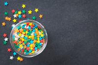 Colorful Star Shaped Sugar Sprinkles