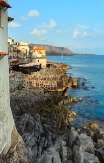 Cefalu coast view Sicily, Italy