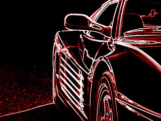 rotes Luxus Auto II