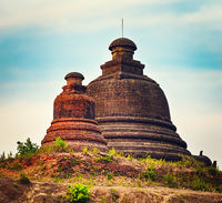 Stupa  in Mrauk U. Myanmar.