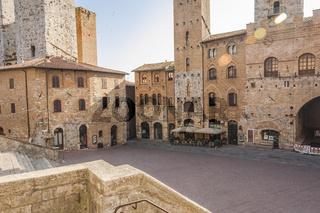 San Gimignano am Piazza Duomo