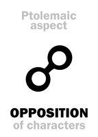 Astrology: OPPOSITION (aspect)
