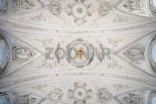 Deckengewölbe Barock- und Wallfahrtskirche St. Coloman, Schwangau, Bayern, Deutschland