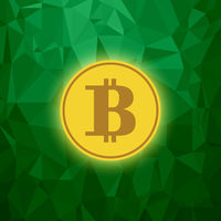 Yellow Bitcoin Icon. Crypto Currency Concept