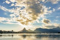 Skyline of Rio de Janeiro city at afternoon