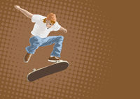 Skateboarder in Aktion