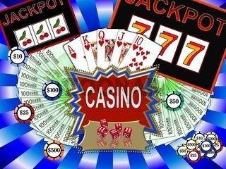 Hintergrund mit Casino-Symbolen