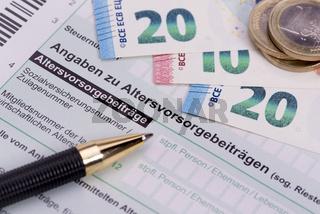 Steuererklärung für Finanzamt