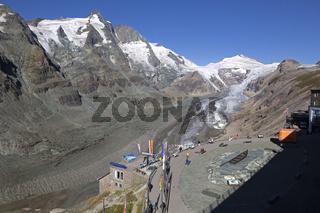 Gletscher Pasterze, Großglockner, Hohe Tauern, Österreich, Europa