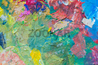 close up of colorful painting