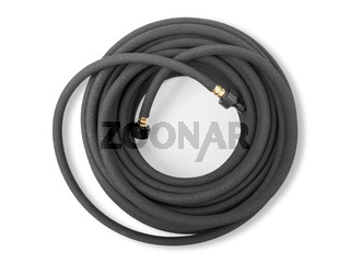 Special hose for drip irrigation on white background