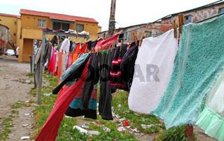 Unterwegs in den Slums von Kapstadt, Südafrika, on township tour in Cape Town, South Africa