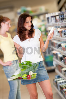 Shopping series - Brown hair young woman