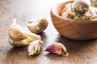 Fresh healthy garlic.