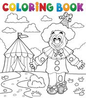 Coloring book clown thematics 3