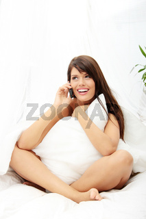 Pretty woman on phone
