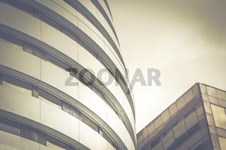 Architektur in London - ein rundes Gebäude mitten in der Innenstadt